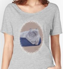 Bayou - A Portrait of a Himalayan Cat  Women's Relaxed Fit T-Shirt