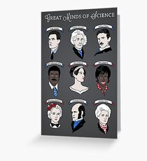 Great Minds of Science {Set} Greeting Card