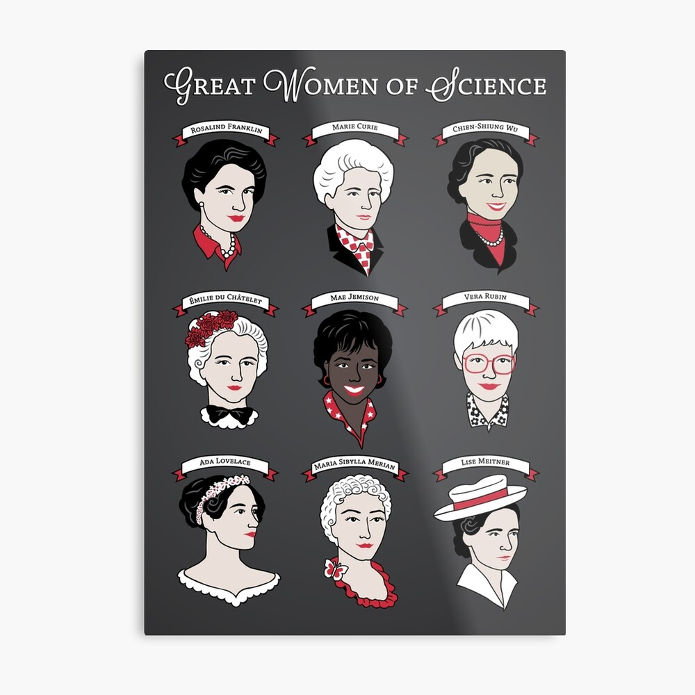 Great Women of Science {Set} Metal Print