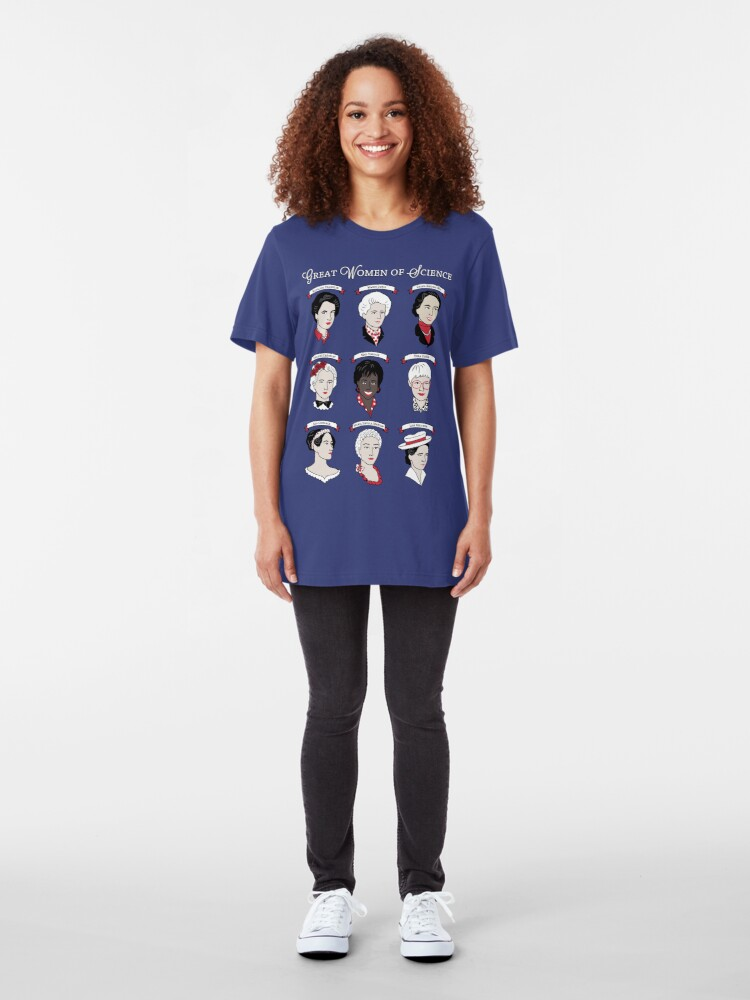 Alternate view of Great Women of Science {Set} Slim Fit T-Shirt