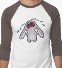Sad Crying Bunny Rabbit Men's Baseball ¾ T-Shirt