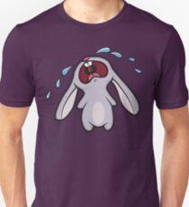 Camiseta ajustada Sad Crying Bunny Rabbit
