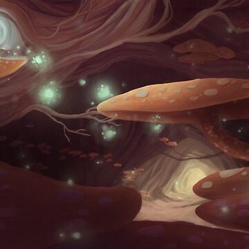 Mushroom Tree Cave by WWFoxStudio