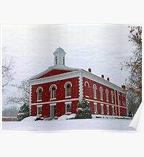 Iron County Courthouse Dressed for Christmas Poster
