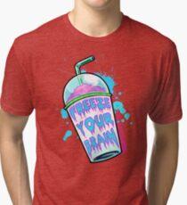 Camiseta de tejido mixto Congela tu cerebro
