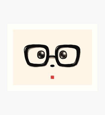 Geek Chic Panda Eyes Art Print