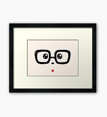Geek Chic Panda Eyes Framed Print
