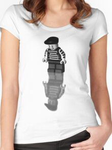 Happy on the outside Women's Fitted Scoop T-Shirt