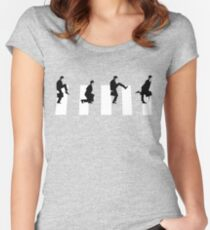 Ministry of silly walks/abbey road Women's Fitted Scoop T-Shirt