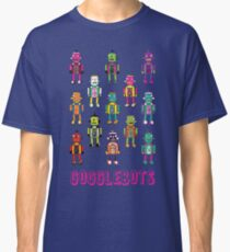 GoggleBots - robot pattern on Blue Classic T-Shirt