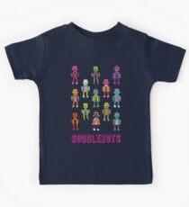 GoggleBots - robot pattern on Blue Kids Tee