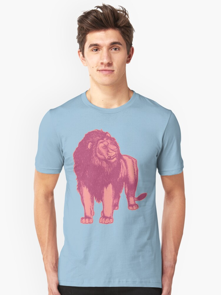 Pink Lion T-Shirts by Cheerful Madness!! Unisex T-Shirt Front