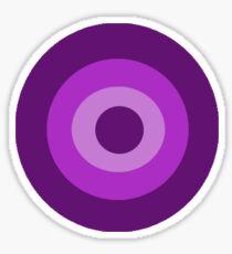 Purple Target  Sticker