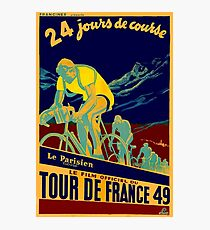 TOUR DE FRANCE; Vintage Bicycle Race Advertisment Photographic Print