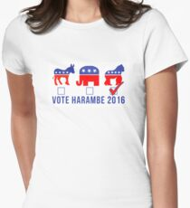 Vote Harambe 2016 Womens Fitted T-Shirt