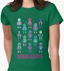 GoggleBots - robot pattern Womens Fitted T-Shirt