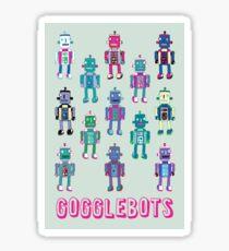 GoggleBots - robot pattern - fun pattern by Cecca Designs Sticker