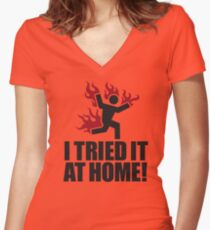 I tried it at home! Women's Fitted V-Neck T-Shirt