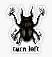 Turn Left Sticker