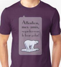 le bear polar - speech bubble/lilac Unisex T-Shirt