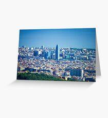 Barcelona City, Spain Greeting Card