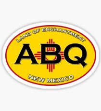 ABQ - Albuquerque New Mexico!  Land of Enchantment! Sticker