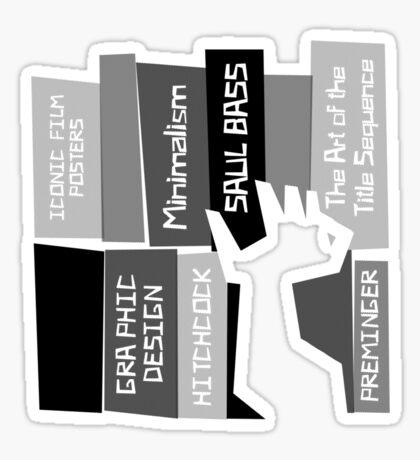 Designer Bookshelf Sticker