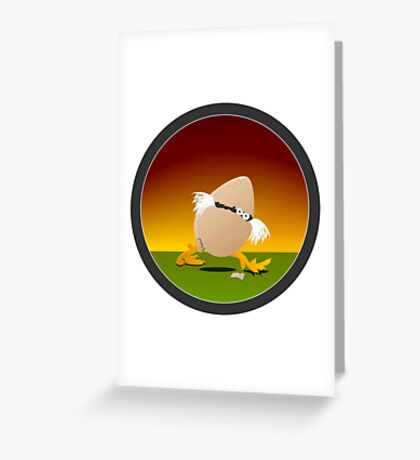 Precocious Chicken VRS2 Greeting Card
