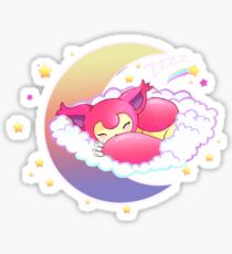 skitty snoozing Sticker