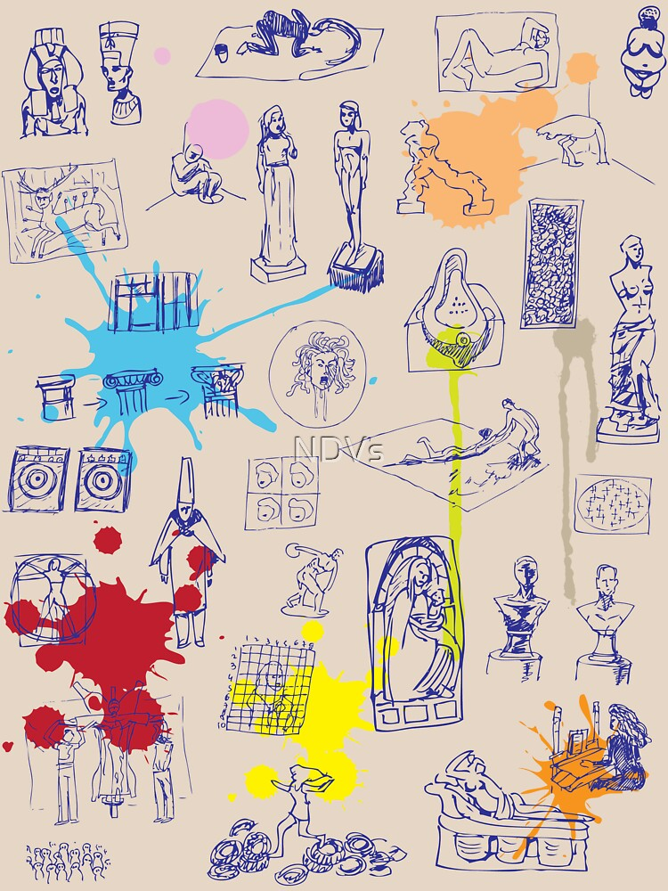 History of Art (blue artlines, w/ paint splashes) by NDVs
