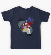 Optimus Prime - King of the Road (punch) Kids Tee