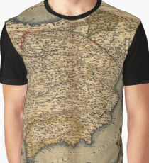 Antique Map of Spain, by Abraham Ortelius, circa 1570 Graphic T-Shirt