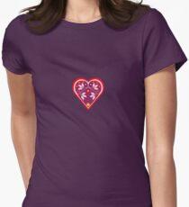 Folk heart 3 centre Women's Fitted T-Shirt