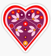 Folk heart 3 centre Sticker