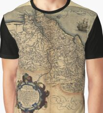Antique Map of Portugal, by Abraham Ortelius, circa 1570 Graphic T-Shirt