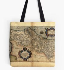 Antique Map of Portugal, by Abraham Ortelius, circa 1570 Tote Bag