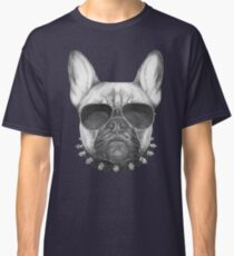 French Bulldog with collar and sunglasses Classic T-Shirt