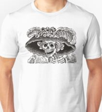 Calavera Catrina | Black and White | Day of the Dead | Dia de los Muertos Unisex T-Shirt
