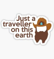 Just a traveller Sticker