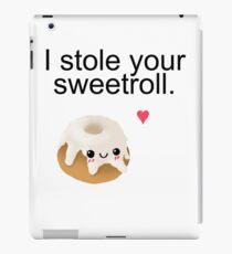 I stole your sweetroll. iPad Case/Skin