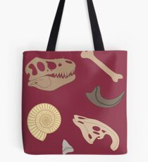 Dino Fossils Tote Bag