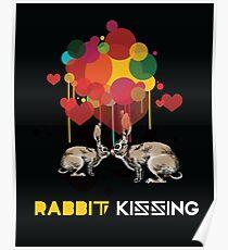 Rabbit kissing Poster
