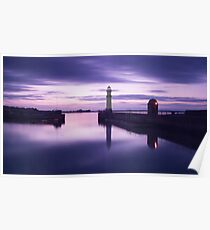 Newhaven Harbour after Sunset Poster