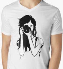 Photographer Girl Men's V-Neck T-Shirt