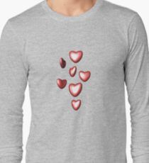 Unbreakable hearts red Long Sleeve T-Shirt