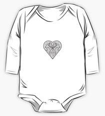 Ironwork heart black One Piece - Long Sleeve