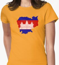 Cambodia Womens Fitted T-Shirt