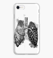 Digital Anatomical Watercolor Lungs iPhone Case/Skin