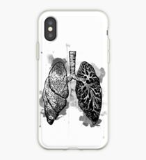 Digital Anatomical Watercolor Lungs iPhone Case