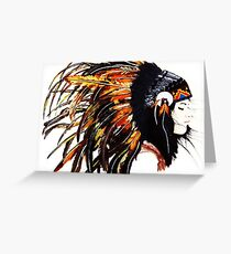 native indians Greeting Card